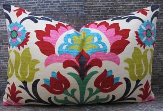 Designer Pillow Cover - 10 x 20 - Panama Desert Flower -