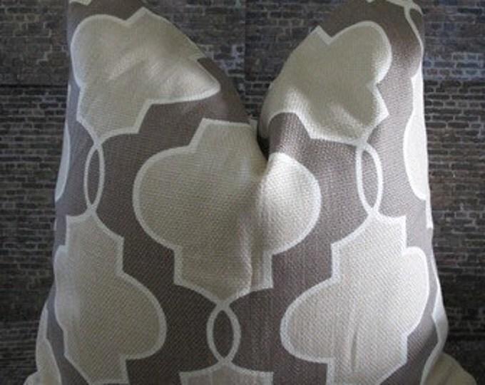 Lattice Designer 12 x 18 Pillow Cover -  Luca Sand