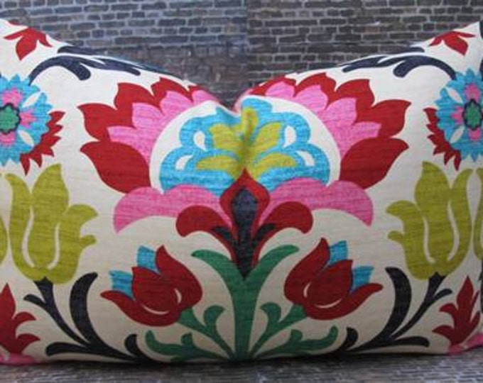 Designer Pillow Cover - 10 x 20, 12 x 16, 12 x 18 - Panama Desert Flower -