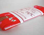 Bias Tape - Tossed Desserts in Red Handmade Single Fold Bias Tape, 4 Yards
