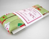 Bias Tape - Tossed Desserts in Green Handmade Double Fold Bias Tape, 3 Yards