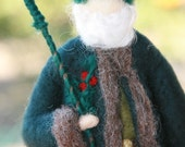 Needle Felted Green King of Winter- King Holly - Made to Order