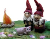 Needle felted Waldorf Playscape - Mr. & Mrs. Gnome and friends - Made to Order