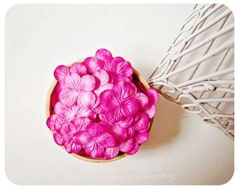 30 Hydrangea petal bright pink  / pack