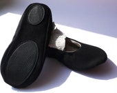 Non slip leather patches for room shoe ballet flat woman handmade add on