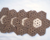 crochet doilies coaster set organic cotton