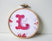 letter L embroidery hoop