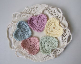 Pastel crochet heart garland, Easter bunting, Easter decoration, pastel heart bunting, FREE UK shipping, crochet garland, crochet bunting
