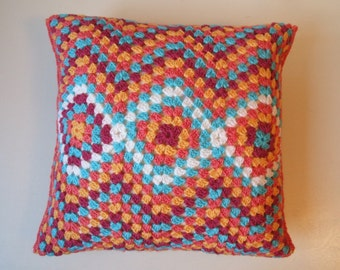 Crochet cushion cover Moroccan style, removable crochet cushion cover, decorative cushion, decorative pillow, ethnic pattern, Missoni theme