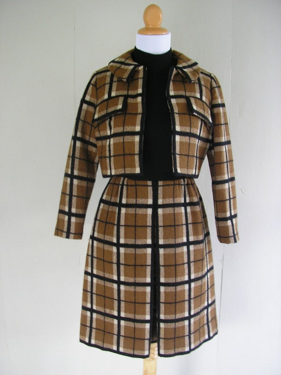 1950s wool suit / 50s Miss Mendessolle dress with jacket