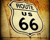 Route 66 Fine Art Photography Sepia Print Travel Photograph Rustic Wall Art US