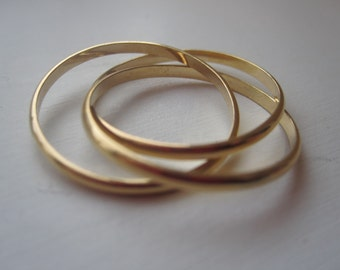 14K Gold Filled Rolling Trio Trinity Ring