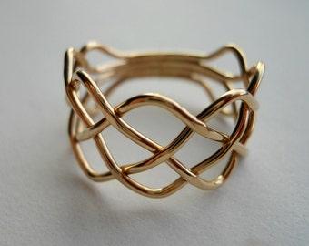Braid Ring 14k Gold Filled