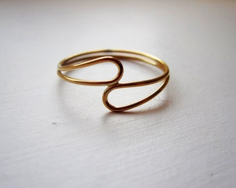 14K Gold Filled Passing Tear Ring