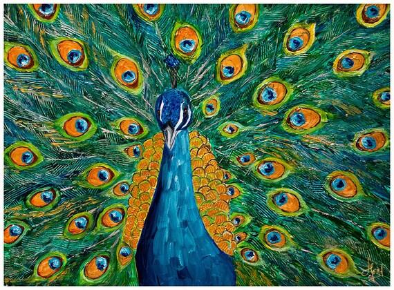 Proud  Peacock print by Hema Sukumar