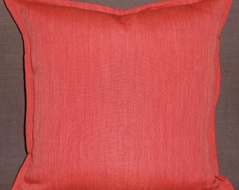"""Pair of 18"""" X 18"""" paprika pillow covers with half inch flange"""