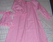 flannel nightgown matching doll gown