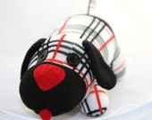 Black and Red Plaid Puppy