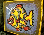 Cozumel Fish Beaded/Sequined Teeshirt Clock