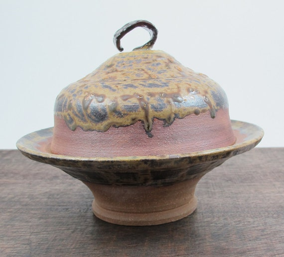 Ceramic Candy Dish in Rustic Brown