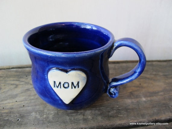 MOM Mug in Royal Blue