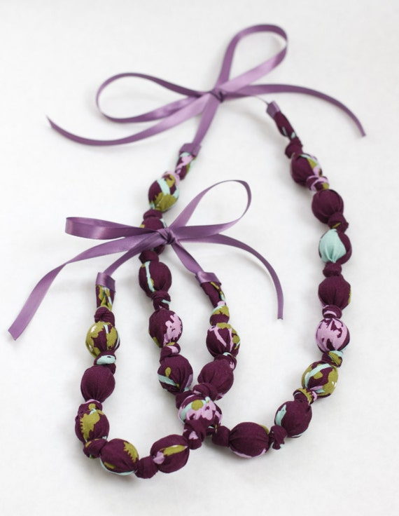 Mommy & Me Necklace Set in Sparrow Plum