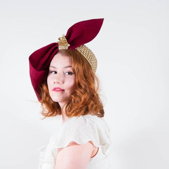 reserved / vintage 1930s hat / designer slouch / Caspar-Davis