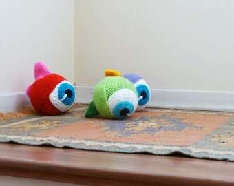 Crochet Pattern Amigurumi Monster Ball - PDF - Halloween - Instant Download