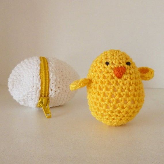Crochet  eggs & baby chicks Crochet Amigurumi Pattern PDF ebook - playful egg box TOY kids will love