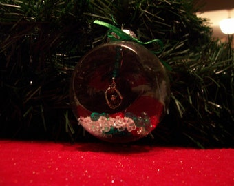 Glass Ornament with Baseball Glove