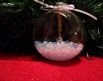 Glass Ornament with Basketball