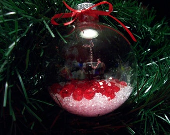Glass Ornament with Saxaphone