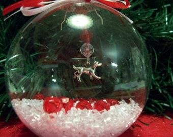 Glass Ornament with Dog