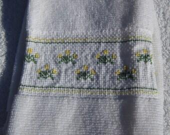 Flower Finger Towel