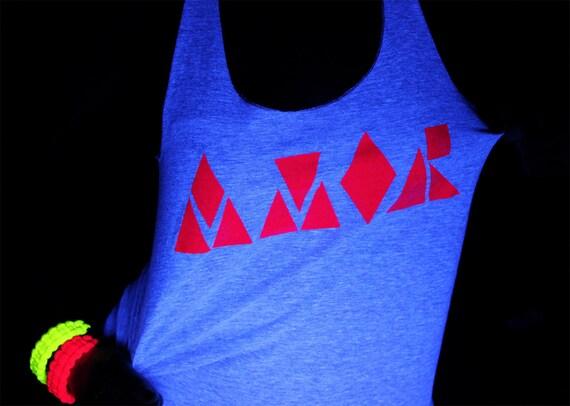AMOR - Neon Screenprint Tank and Tshirt American Apparel