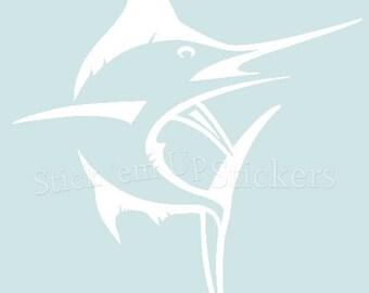 White Marlin Decal Sticker