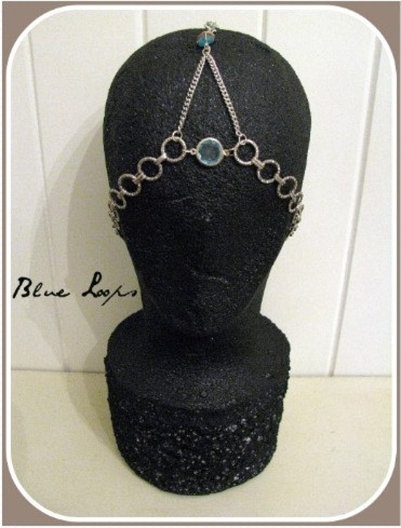 "Halo Headdress - ""Blue Loops"""