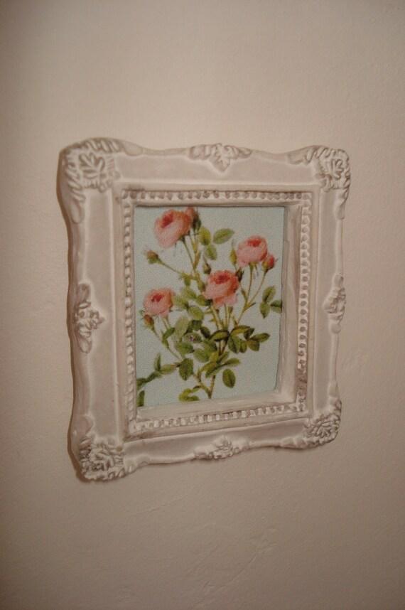 """Framed """" shabby flowers"""""""