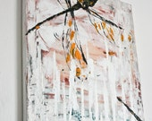 Dragonfly painting - acrylic on canvas - original -HELD FOR LAURA-