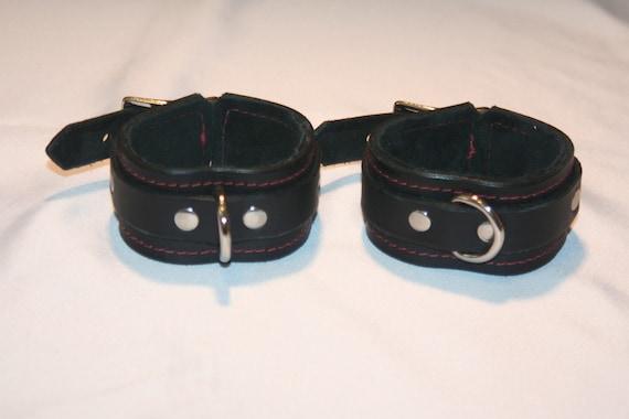 Leather Bondage Cuffs (wrist or ankle)