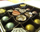 Artisan Dark Chocolate Collection- Box of 16 - Chouquette Chocolates and Caramels