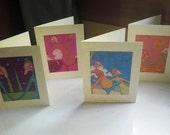 Blank Card set of 4