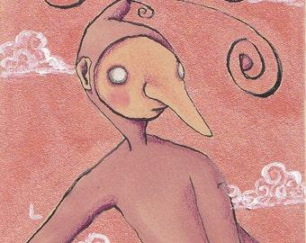 Original Art Illustration, Framed Art