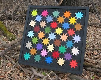 Field of Stars Wooden Quilt