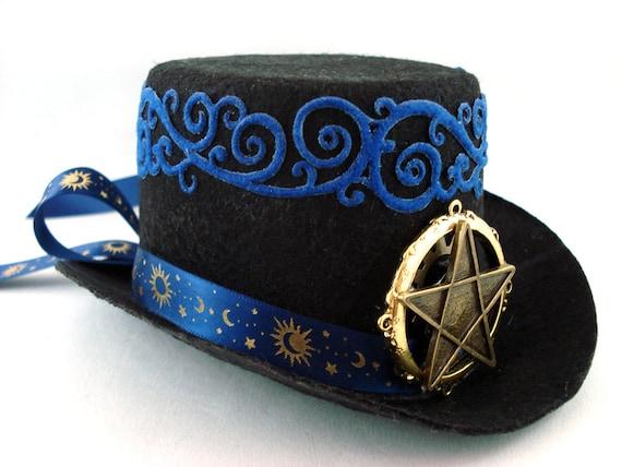 Celestial Steampunk Mini Top Hat - Ready to Ship