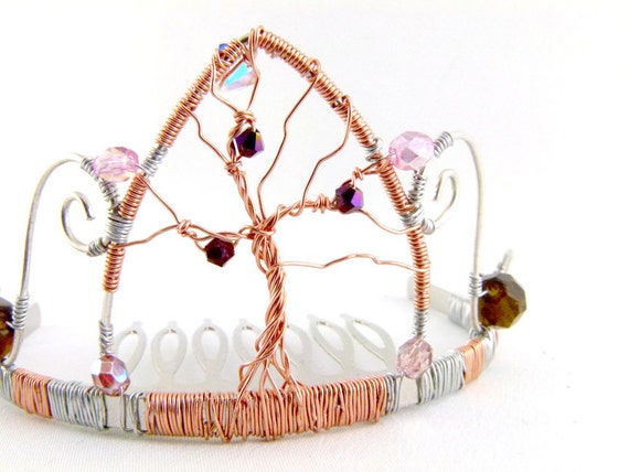 Tree of Life Tiara - Copper Rose - Ready to Ship