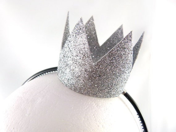 Simple Silver Dress Up Crown Headband - Great for Parties