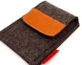 IPhone iPod Wool Felt and Leather Case in  Anthracite