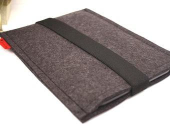 Kindle, iPad Mini, Nexus Tablet, e reader Wool Felt Case in Anthracite
