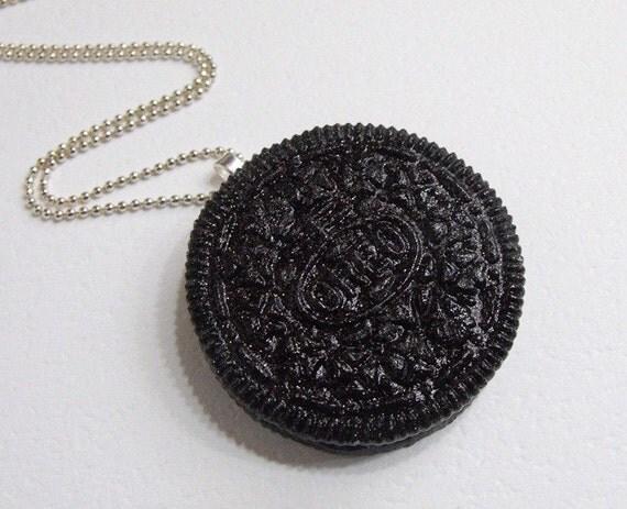 Resin Oreo Cookie Pendant